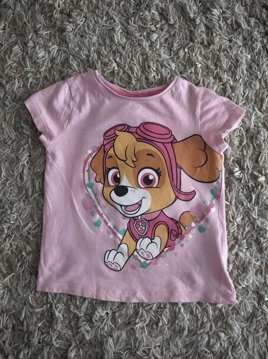 Koszulka dziewczęca Psi Patrol 24 mce 2 latka 9378311906 Dziecięce Odzież YK SJTDYK-6