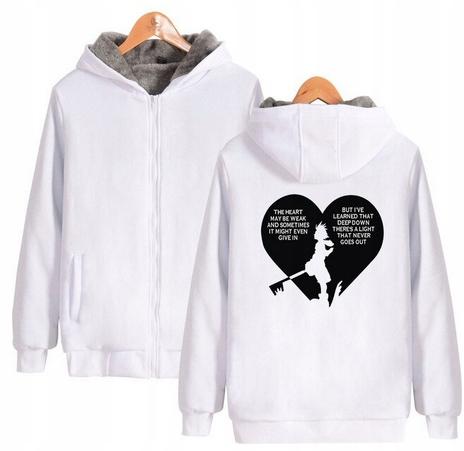 Warm hooded shirt with GRY Kingdom heart XS 34 9658455937 Odzież Damska Topy IK VVASIK-7
