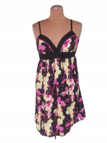 H&M ODCINANA BAWEŁNIANA SUKIENKA KWIATY 34 9308299356 Odzież Damska Sukienki XP FPXRXP-8