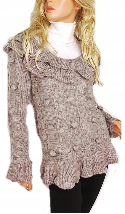 CIEPŁY gruby SWETER tunika w WARKOCZE 839# 9634854815 Odzież Damska Swetry EK HNQEEK-5