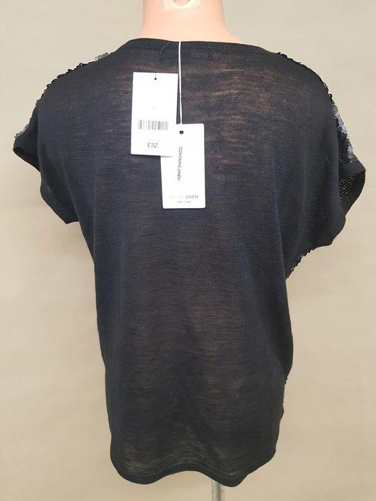 Cekinowa czarna bluzka damska rozmiar L 9520913942 Odzież Damska Bluzki HI ODNQHI-8