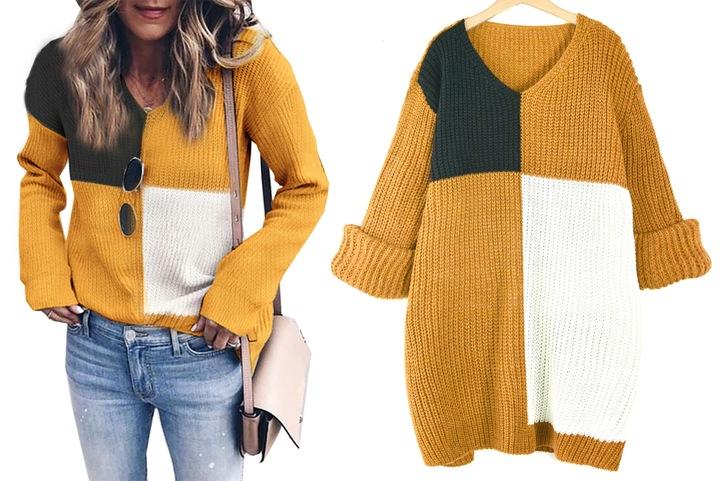 Modny zjawiskowy miękki SWETER sweterek 9712438843 Odzież Damska Swetry RB VTMQRB-3