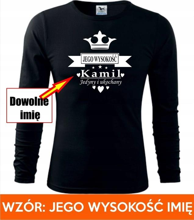 PREZENT NA DZIEŃ CHŁOPAKA KOSZULKA Z DŁ. RĘKAWEM 9707169170 Odzież Męska Koszulki z długim rękawem DE HEFUDE-7