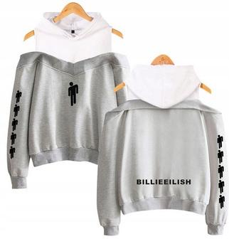 Warm Billie Eilish hoodie LATO M 38 9654104133 Odzież Damska Topy JQ QHKYJQ-1