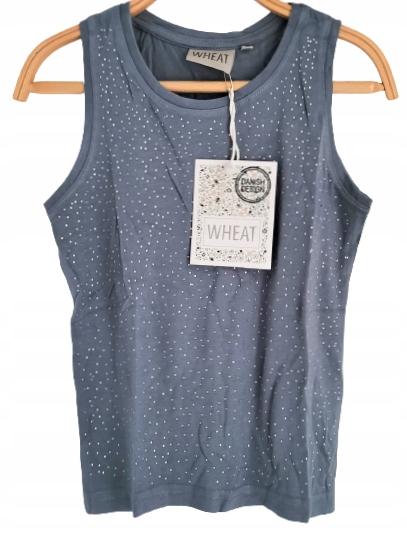 Piękna bluzka koszulka kryształki WHEAT 110 MODAL 9923363711 Dziecięce Odzież WS AAHQWS-9