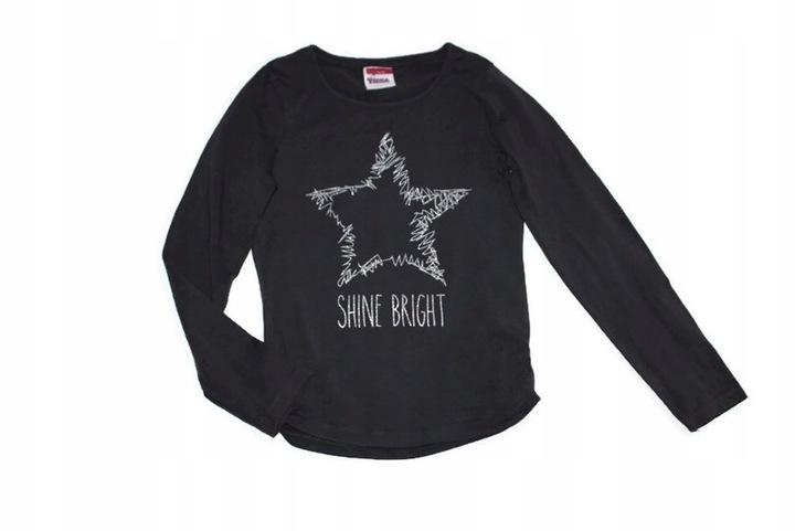 ad404*YIGGA* Grafitowa bluzka gwiazda 134-140 9849137817 Dziecięce Odzież GT JKJNGT-8