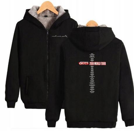 Warm KPOP Hood blouse GOT7 UNISEX XS 34 9658268316 Odzież Damska Topy IB RURWIB-7