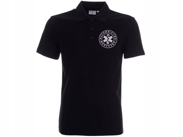 Koszulka Polo odblaskowa RATOWNIK MEDYCZNY LEKARZ 9333632228 Odzież Męska Koszulki polo DI VGWLDI-7