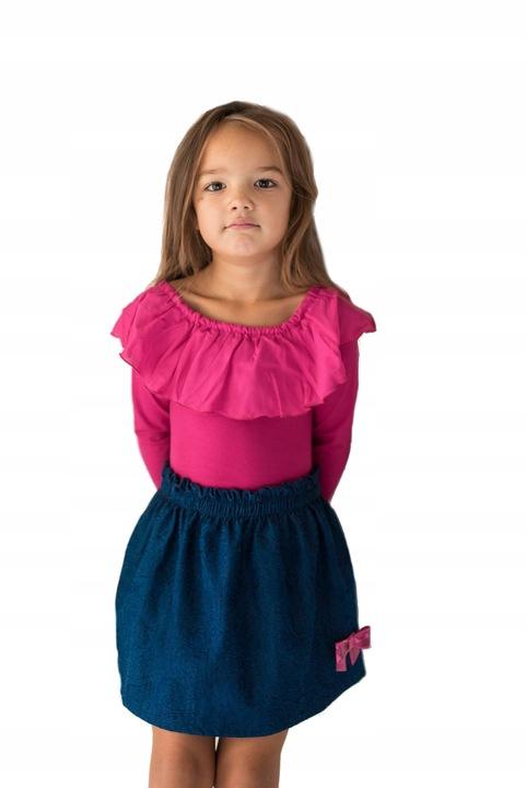 Body dziewczęce rÓżowe z falbanką LILY GREY 146 9693021498 Dziecięce Odzież VV LWQPVV-2