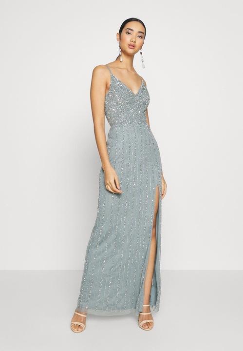 DŁUGA MAXI SUKNIA BALOWA Lace & Beads 42 9655674830 Odzież Damska Sukienki wieczorowe EA ILFDEA-3