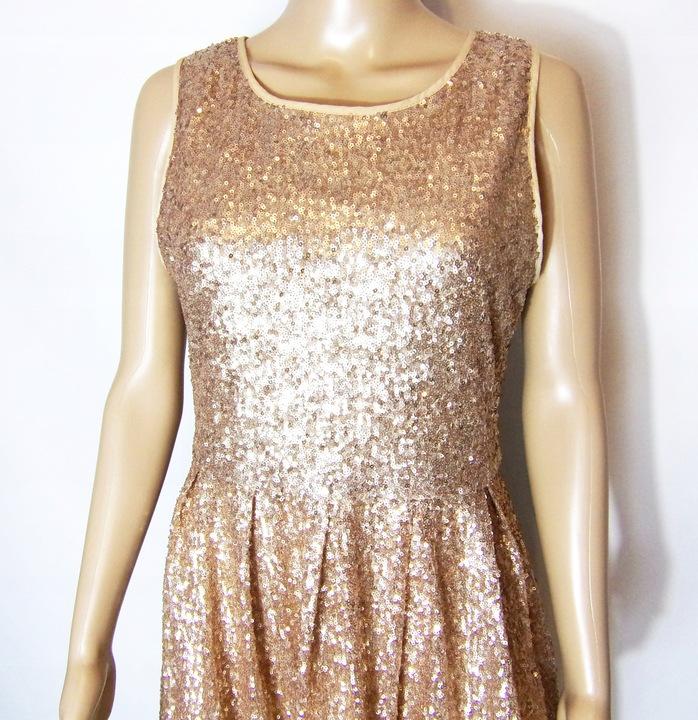 sukienka wieczorowa z cekinami 36/38 9519209362 Odzież Damska Sukienki wieczorowe AT AKMZAT-5