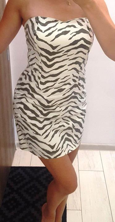 AMISU koktajlowa sukienka 36 S 9638461908 Odzież Damska Sukienki wieczorowe YT KWJJYT-6