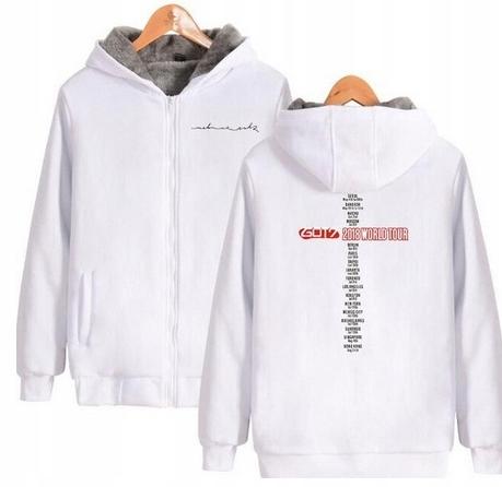 Warm KPOP Hood T-shirt GOT7 UNISEX L 40 9658268305 Odzież Damska Topy ZY YLVKZY-9