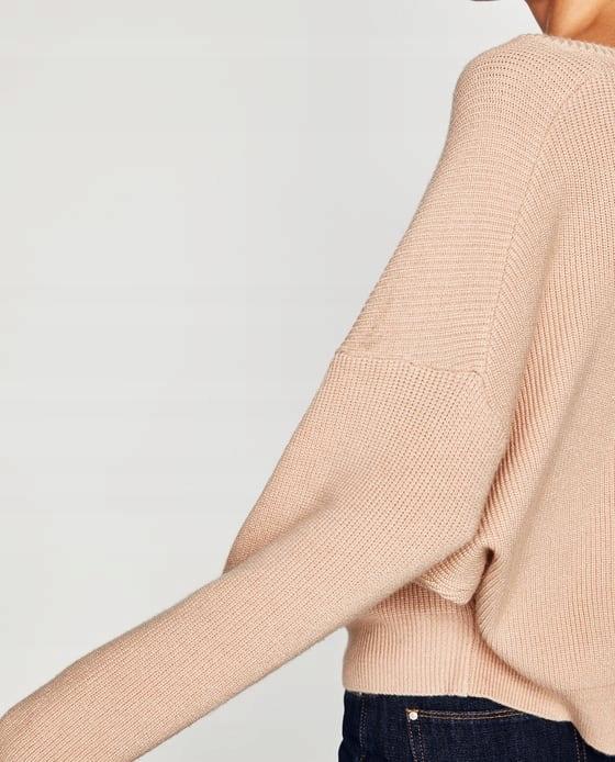 Sweter Zara 36 S pudrowy rÓż 9275790889 Odzież Damska Swetry NB GIEJNB-6