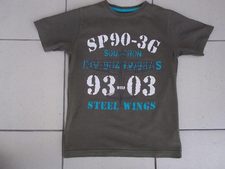 NEXT MILITARY I MINECRAFT 2 bluzki 122 kr.rękaw 9426044511 Dziecięce Odzież KA KJNUKA-4