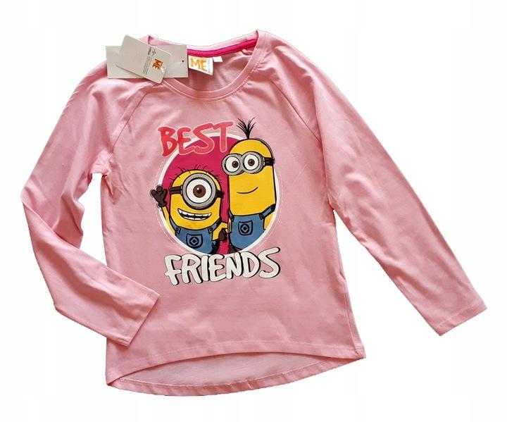 Bluzka koszulka rÓżowa Minionki best friends 152 9932928489 Dziecięce Odzież HV FROYHV-4