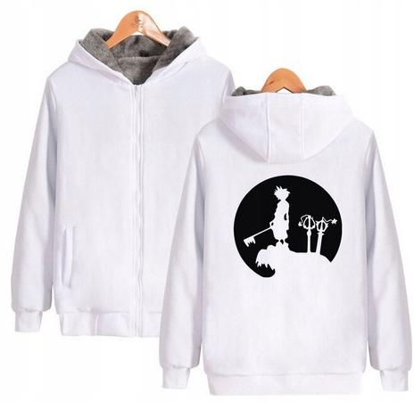 Warm hooded shirt with GRY Kingdom heart M 38 9658454176 Odzież Damska Topy MO JFXDMO-7