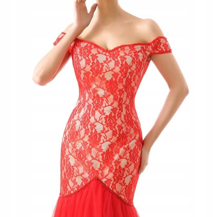 suknia wieczorowa Czerwona suknia wieczorowa z od 9658406636 Odzież Damska Sukienki wieczorowe ZE JGMVZE-7
