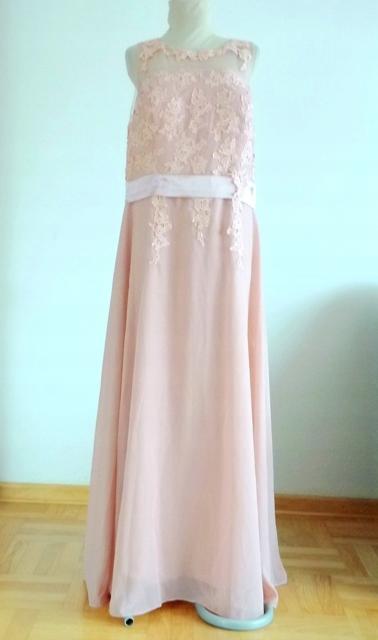 Suknia DŁUGA WESELNA BALOWA WIECZOROWA Roz.44 9821181130 Odzież Damska Sukienki wieczorowe DM WIYMDM-4