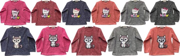 Bluzeczka sweterkowa BLUZKA sweterek kot kotek 98 9860470767 Dziecięce Odzież CR IFYCCR-3