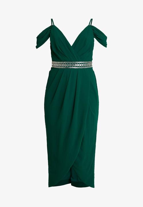 TFNC sukienka zielona z ozdobami midi r.36 K15 18 9830154051 Odzież Damska Sukienki wieczorowe GT FMDKGT-2