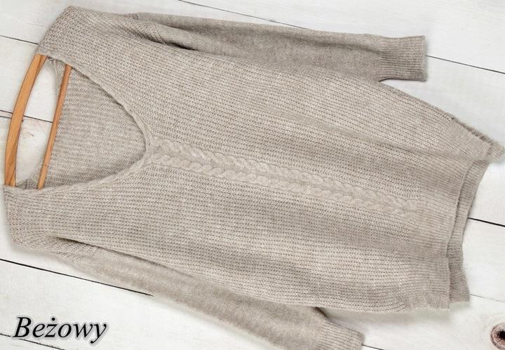 994 KLASYCZNY SWETER DEKOLT V WARKOCZ kolory 9784474068 Odzież Damska Swetry UQ TTKEUQ-8
