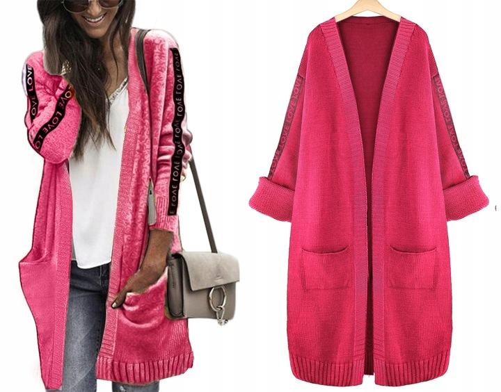 Efektowny miękki kobiecy KARDIGAN SWETER narzutka 8559967156 Odzież Damska Swetry JY EOPZJY-1