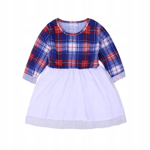 Dopasowana sukienka dla matki i cÓrki z długim ręk 9327297574 Odzież Damska Topy PD XGDXPD-5