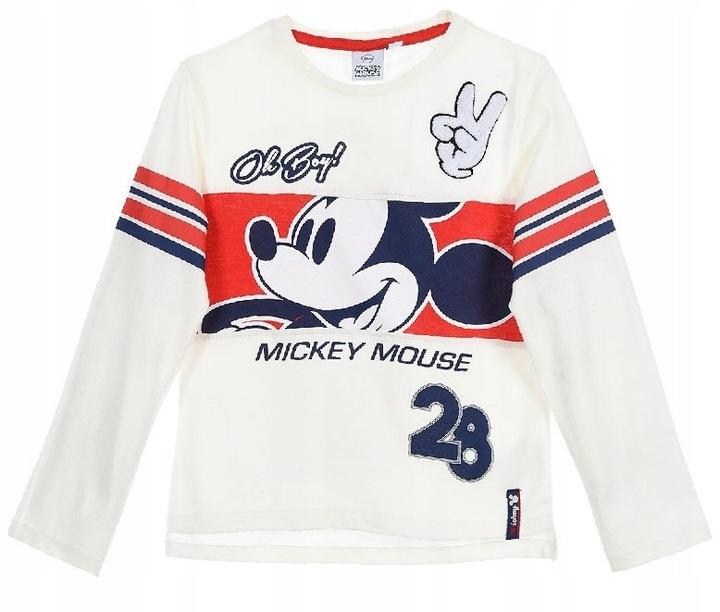 Bluzka z długim rękawem Myszka Mickey Mouse Disney 9124671863 Dziecięce Odzież GI FEIRGI-5