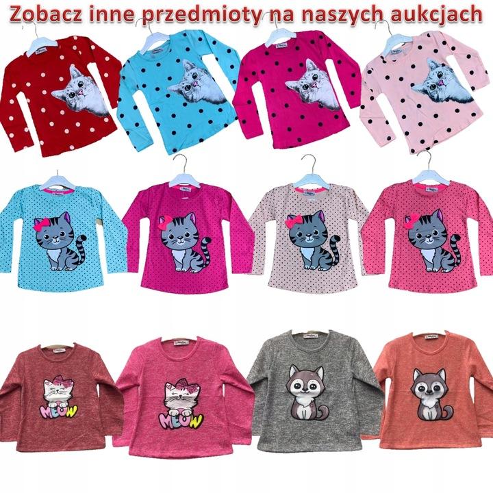 Bluzeczka sweterkowa BLUZKA sweterek kot kotek 116 9912902925 Dziecięce Odzież BD TPDVBD-1