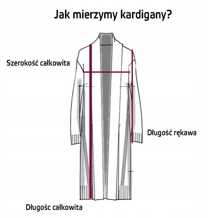 Sweter DŁUGI KARDIGAN KIESZENIAMI PIĘKNY BEŻ L/XL 9737324225 Odzież Damska Swetry UV SHKEUV-7