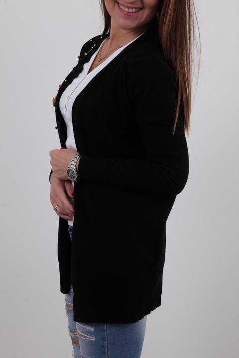 LEKKA SWETERKOWA NARZUTKA BLEZER RÓŻYCZKI KOLORY M 9205445252 Odzież Damska Swetry PU CDOTPU-5