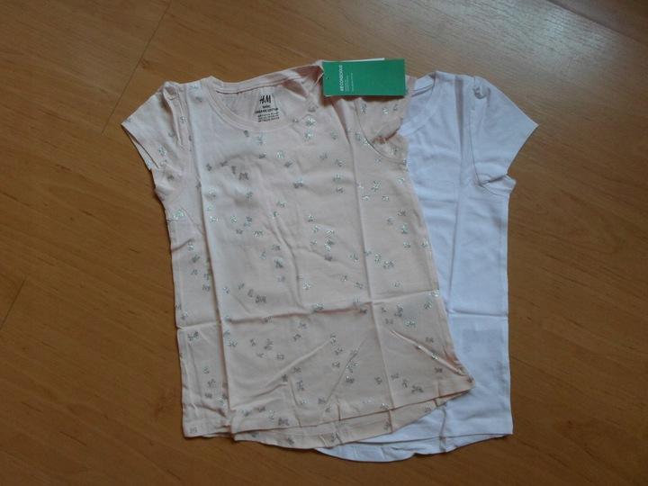 2-pak bluzka H&M 110/116 cm NOWE,METKA 9932921425 Dziecięce Odzież JI YRHJJI-1