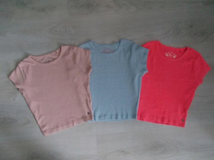 Świetne krÓtkie bluzeczki - 3 szt. - rozm.152-158 9919548384 Dziecięce Odzież SC IUSGSC-2
