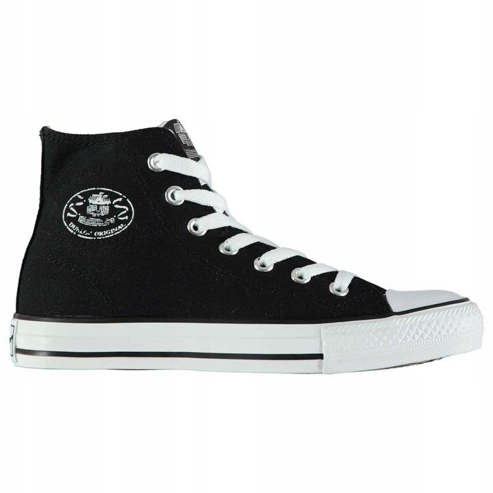 Trampki Dunlop męskie modne czarne wysokie 43 9 www