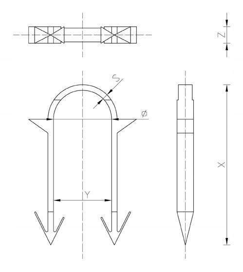 SPINKI KLIPSY DO TAKERA PROFESJONALNE 60mm 300 SZTUK KPL