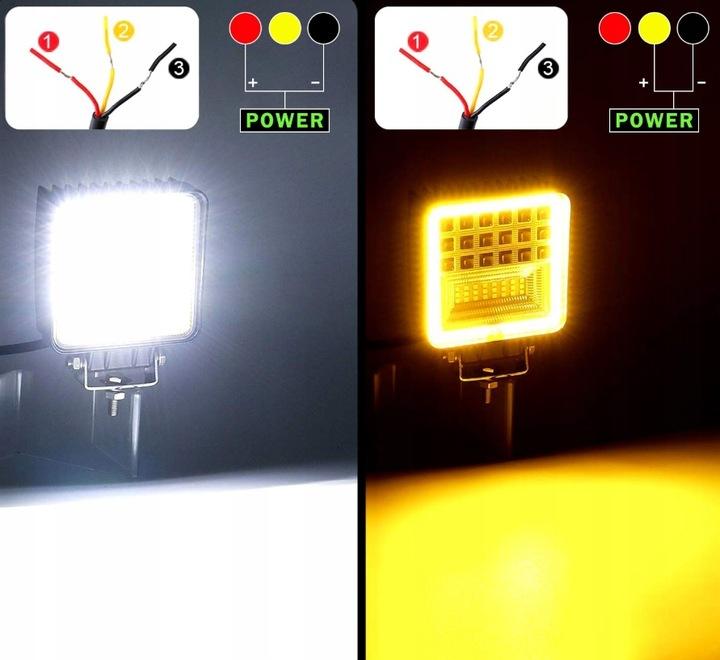 PANEL LED LAMPA ROBOCZA HALOGEN 126W 12-24V CREE