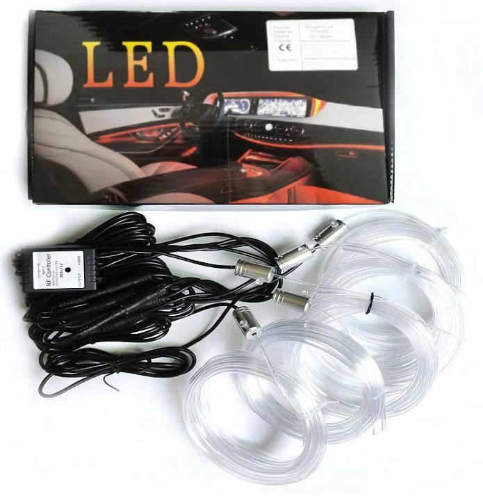 комплект ambient light Волоконно-оптический кабель приложение rgb led