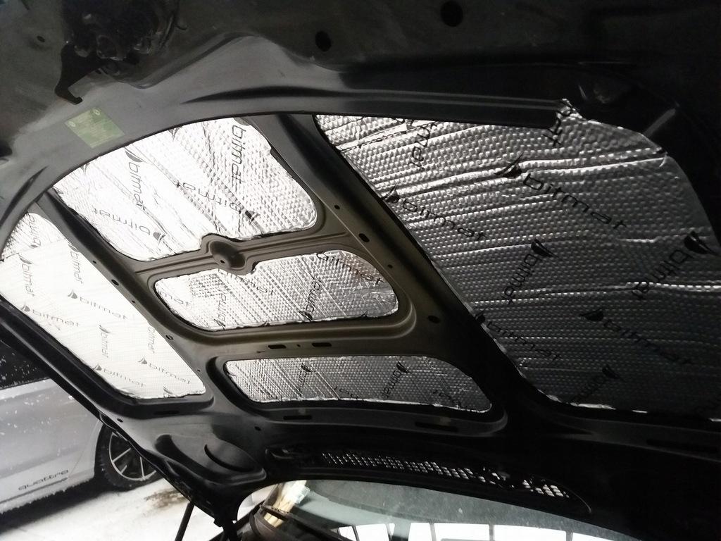 мат пенка обезшумка трудновоспламенимая капота двигателя, фото 5