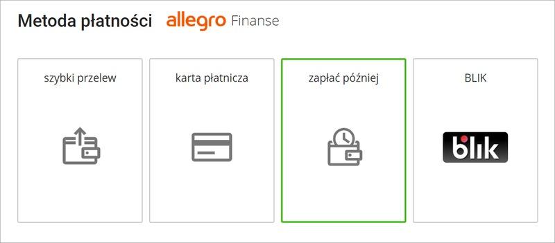 Jak Kupowac Uzywajac Allegro Zaplac Pozniej Pomoc Allegro